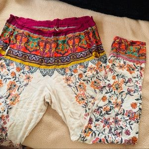FREE PEOPLE Thin Boho Print Pants
